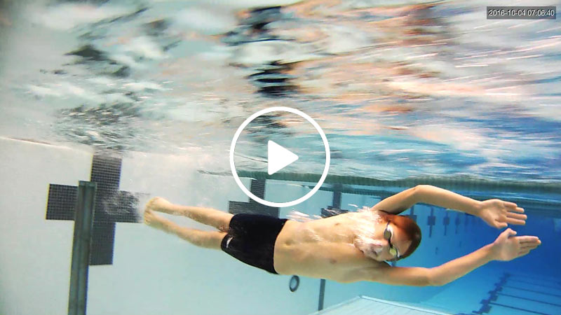 youth swim coaching with video