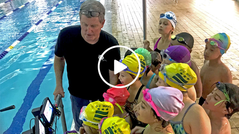 underwater video team swim training